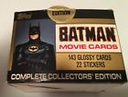 TOPPS 1989 Batman Movie Cards Factory Box 143 Cards & 22 Stickers