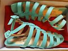 Christian Louboutin Neronna Strappy Nubuck Sandals Aqua Green Box Dustbag 38 8