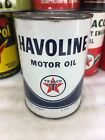 Vintage Quart Texaco Havoline New York Full Oil Can Metal No Reserve!!