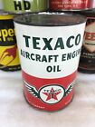 Vintage Quart Texaco Aircraft Plane Engine Wings Motor Oil Can No Reserve!!!!
