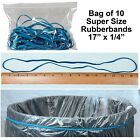 Large Rubber Bands Long Rubber Bands 17 x 1 4 Blue Pack of 10