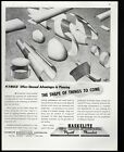 HASKELITE 328 plymold shape of things to come 1943 Vintage Print Ad