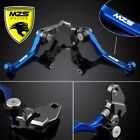 For Suzuki RM125/RM250 1996-2003 MZS Motorcycle Pivot Clutch Brake Levers Blue