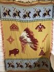 Native American Western Tapestry Blanket Throw New Mexico 74x48