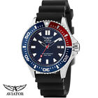 Aviator AVW78341G351 F-Series Special Ops Diver black Silicone Men's Watch NEW