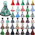 Womens 50s 60s Vintage Style Rockabilly Pinup Cocktail Party Prom Swing Dress