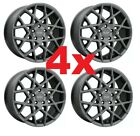 17 GUNMETAL GRAPHITE WHEELS RIMS ALUMINUM ALLOY DARK GRAY 5X110