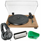 Audio Technica AT LPW40WN Manual B Drive Turntable W StylusHeadphoneBrush