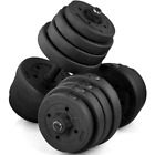 Adjustable Workout Dumbbell Set Fitness Home Gym Training Barbell Plates 66 LB