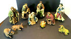 10 Piece Nativity Set Jesus 3 Wisemen Holy Family