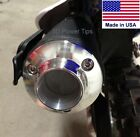 KAWASAKI KLX 125 / SUZUKI DR-Z 125 EXHAUST 2D POWER TIP w/ SPARK ARRESTOR SCREEN