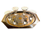 Set of Six Mid Century Modern Steuben Signed Martini Cocktail Glasses