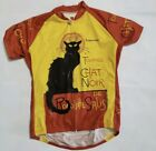 Retro Image Large Cycling Jersey Tournee du Chat Noir Cycling Jersey
