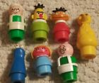 HTF VTG Fisher Price Little People Sesame Street LOT OF 7 Prairie Dawn Keychain