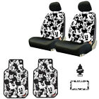 For Jeep New MIckey Car Truck SUV Seat Covers Headrest Floor Mats Full Set