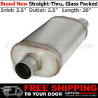 25 Inch Inlet Double Offset Outlets Stainless Steel Universal Muffler 256393