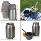Thermos Food Jar with Folding Spoon 22 oz Double Wall Insulated Stainless Steel