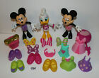 Minnie Mouse Bowtique Dress Up Daisy Snap on Clothes Lot 'n Style Dolls Set