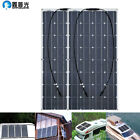 200w Waterproof Solar Panel 2x100w Photovoltaic for Home Caravan battery Charger