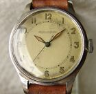 34mm MEN'S MILITARY Jaeger LeCoultre steel WWII PERIOD WRISTWATCH good condition