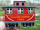 1998 Hallmark Keepsake Ornament Pressed Tin Yuletide Central Train Caboose