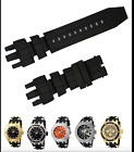 Black Rubber Replacement Watch Strap Band For Invicta Subaqua Reserve Analog i40