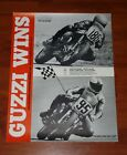 Moto GUZZI WINS! Racing Poster NOS v7 sport lemans 750 850 ROLLED