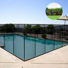 Swimming Pool Fence Two Plastic Cap Sleeves with Different Lengths Durable Black