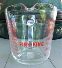 Vintage Anchor Hocking Fire King #499 1 Quart Clear Glass Measuring Cup 32 oz