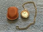 Victorinox Swiss Army Pocket Watch Model ISA1198 With Chain And Leather Pouch