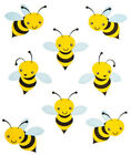 2 Sheets Happy Bumblebee Bees Planner Stickers Papercraft Envelope Seals Craft