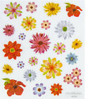 2 Sheets Glitter Pretty Flowers Planner Stickers Papercraft DIY Craft Scrapbook