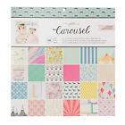 American Crafts 12 x 12 Crate Paper Carousel Patterned Paper Pad 36 Sheets