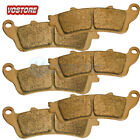 F+R Sintered Brake Pads Fit 2001-2017 Honda GL 1800 1800A ABS Goldwing VTX 1800