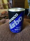 VINTAGE 1 QUART AMOCO TURBO MOTOR OIL CAN FULL! EXCELLENT CONDITION