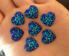 wholesale 20PCS Blue Resin Heart flatback Scrapbooking for phone wedding craft