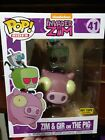 NEW FUNKO POP! RIDES INVADER ZIM & GIR ON THE PIG HOT TOPIC EXCLUSIVE