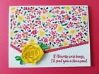 STAMPIN UP Artistic Impressions Flowers Were Hugs Card Encouragement