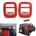 Red Rear Tail Light Cover Taillight Guard for Jeep Wrangler TJ YJ 1987-2006