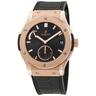 Pre-owned Hublot Classic Fusion King Gold Black Dial Men's PRE-HB516OX1480LR