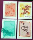 Stampin Up Black Encouragement Greeting Cards Handmade Lot of 4