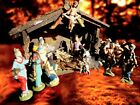 FONTANINI Nativity Depose Italy Set of 12 Figures With Stable 1950s Authentic