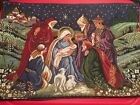 So Unique Vintage Embroireded Christmas Nativity Set 7 Placemats Very High Quali