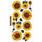 Sunny Sunflower Flower Planner Stickers Papercraft Envelope Seals Floral