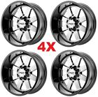 22X10 GLOSS BLACK WHEELS RIMS 6X1397 MOTO FUEL XD LIFTED TRUCKS CHROME MO962