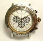 NAUTICA N15006 SPETTACOLARE TWO TONE STAINLESS STEEL WATCH TACHOMETER NO BAND