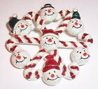 VINTAGE   CANDY CANE AND SNOWMEN CHRISTMAS WREATH  BROOCH PIN