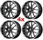 20 BLACK CHROME LIP WHEELS RIMS 5X1143 5X45 ASANTI