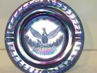 LE SMITH GLASS HERITAGE COBALT BLUE CARNIVAL GLASS 9 1/4