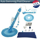 Auto Swimming Pool Cleaner Vacuum Inground Above Ground 10 x Durable Hose Blue